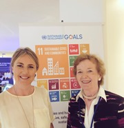 Sophie Howe, Chair of NIFG at the UN High Level Political Forum in New York, July 2018